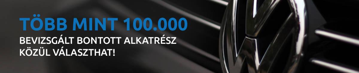 Több mint 100.000 bevizsgált bontott alkatrész közül választhat!