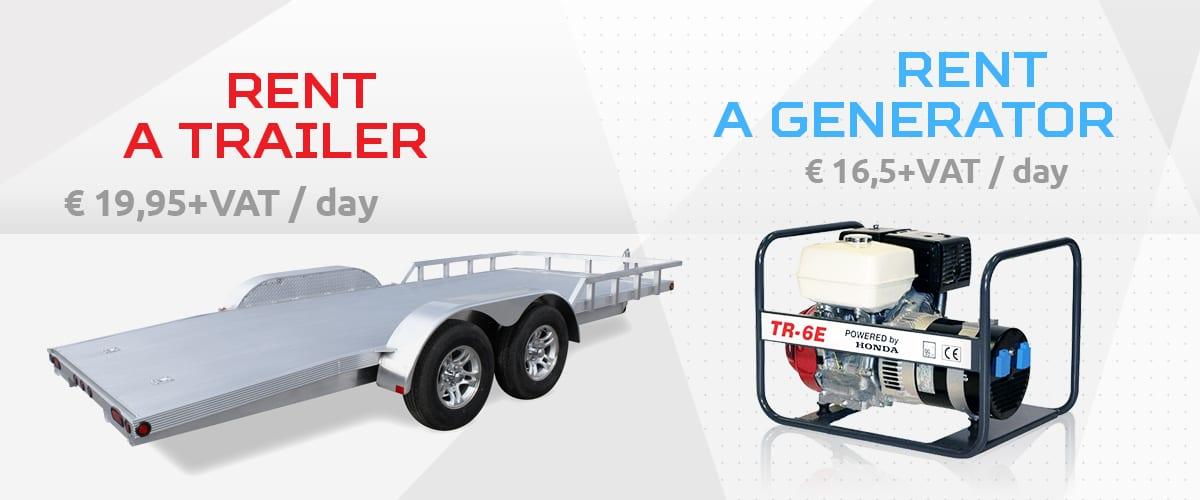 Rent a trailer & rent a generator